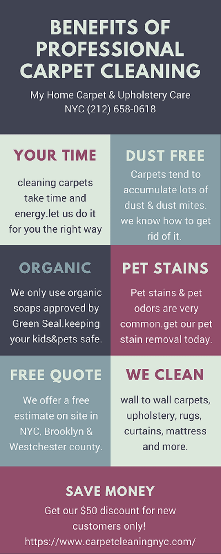 carpet cleaning NYC benefits