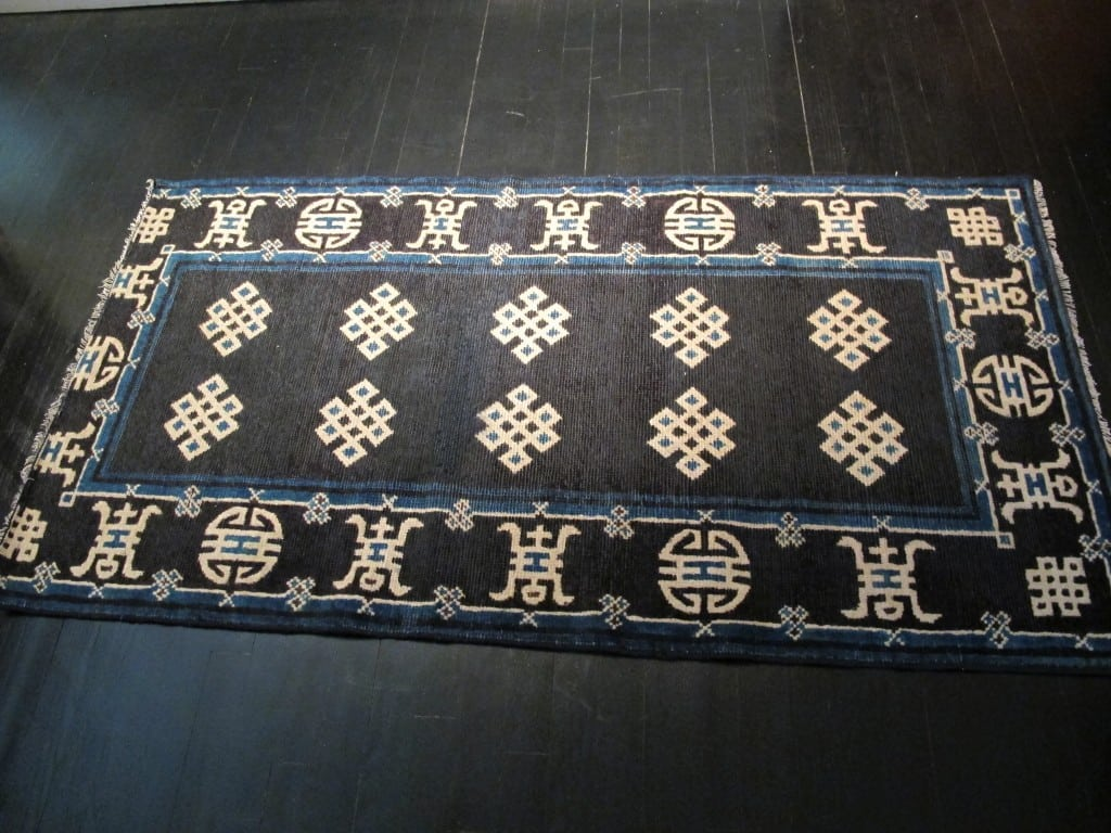 antique rug after